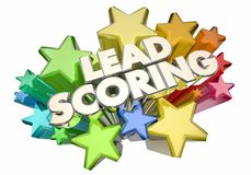 Lead Scoring Customer Prospects Top Best Score Stars 3d Illustration vector illustration