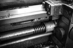 Lead screw move the caliper of the machine tool Royalty Free Stock Images