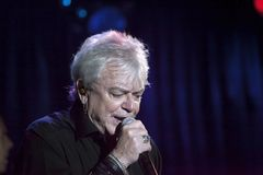 Lead singer Russell Hitchcock of Air Supply performs at B.B. Kin. NEW YORK, NEW YORK, USA - OCTOBER 13: Russell Hitchcock of Air Supply performs at B.B. Kings Stock Photography