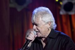 Lead singer Russell Hitchcock of Air Supply performs at B.B. Kin. NEW YORK, NEW YORK, USA - OCTOBER 13: Russell Hitchcock of Air Supply performs at B.B. Kings Royalty Free Stock Image