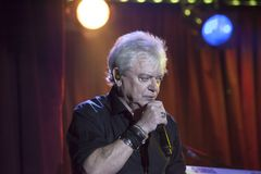 Lead singer Russell Hitchcock of Air Supply performs at B.B. Kin. NEW YORK, NEW YORK, USA - OCTOBER 13: Russell Hitchcock of Air Supply performs at B.B. Kings Royalty Free Stock Photography