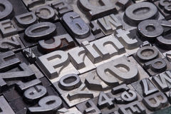 Lead type letters Royalty Free Stock Images