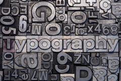 Lead type letters Royalty Free Stock Photography