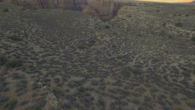 Lead up to grand canyon during sunset. Video of lead up to grand canyon during sunset stock footage