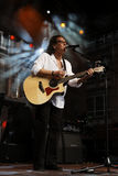 Lead-Vocals -  Mike Craft. Lead-Vocals Mike Craft, the band Smokie, Kornwestheim, 25/06/2012 Stock Photo