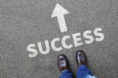 Leade bem sucedido do conceito do homem de negócio do homem de negócios da carreira do sucesso Foto de Stock