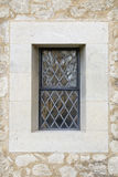 Leaded Church Window and Stonework. Stock Images