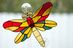 Leaded glass dragon fly Royalty Free Stock Photos
