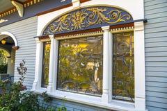 Leaded Glass Window Royalty Free Stock Photos