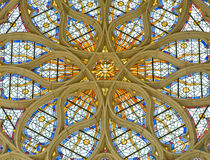 Leaded panes in catholic cathedral Royalty Free Stock Image