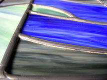 Leaded Veins. Veins of lead in old fashioned stained glass Stock Photos