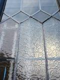 Leaded venster met berijpt glasdetail Royalty-vrije Stock Afbeeldingen
