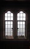 Leaded vensterdetail royalty-vrije stock afbeeldingen