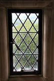 Leaded Window. Ornamental Window with lead for design and security Stock Images