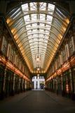 Leadenhall市场购物拱廊伦敦 免版税库存照片