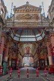 Leadenhall市场购物拱廊伦敦英国 免版税库存照片