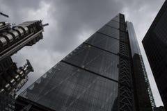 Leadenhall budynek z chmurami Obrazy Stock