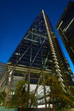 Leadenhall building illuminated in the evening in London Stock Photography