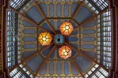 Leadenhall Market Ceiling Close-Up View in London, England royalty free stock image