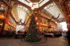 Leadenhall market at Christmas royalty free stock image