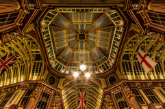 Leadenhall Market London. The impressive roof structure of Leadenhall Market in London, Enland Royalty Free Stock Photos