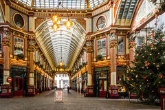 Leadenhall Market in London November 2015 Royalty Free Stock Images