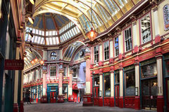 Leadenhall Market. London, UK – March 19, 2011:  Leadenhall Market in Gracechurch Street which has a covered roof and sells mainly food products is a popular Royalty Free Stock Photos