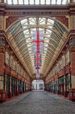 Leadenhall market shopping arcade london uk. Leadenhall market covered shopping arcade which dates back to the 14th Century in the city of london england Stock Image