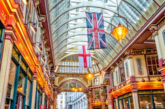 Leadenhall Market, traditional covered market in the City of London Royalty Free Stock Image