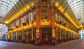 Leadenhall marknad i London, UK Arkivfoton