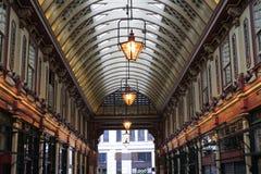 Leadenhall markt behandelde het winkelen arcade Royalty-vrije Stock Foto