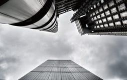 Leadenhall och Lloyds byggnader i London Royaltyfri Foto
