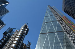 122 Leadenhall Street tower and Lloyd's building in City of lond Stock Image