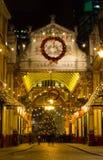 Leadenhallmarkt bij Kerstmis Stock Foto