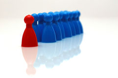Leader. Conceptual - leader and his team - pawns Stock Photography