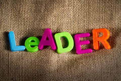 Leader. Dictionary Definition Low key close up Stock Photography