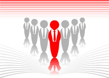 Leader. Abstract vector of a leader in business Stock Image