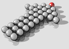 Leader. 3d rendering of silver balls forming an arrow directing up Stock Photos