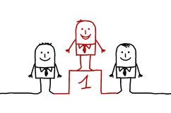 Leader. Vector hand drawn characters line Royalty Free Stock Photo