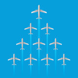 Leader airplane jet flying arrow model isolated vector Stock Photos