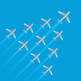Leader airplane jet flying arrow model isolated vector Royalty Free Stock Images