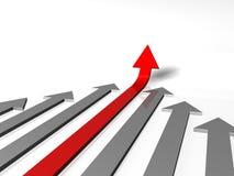 Leader arrow. Arrow symbol of leadership  on white Stock Image