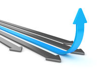 Leader arrow Stock Images