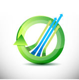 Leader arrow 360 design concept illustration Stock Photos