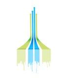 Leader arrow lines illustration design Stock Images