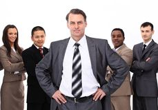 Businessman on the background of business team Royalty Free Stock Photography