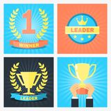 Leader badges Royalty Free Stock Photo