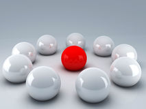 Leader ball of white teamwork Royalty Free Stock Photos
