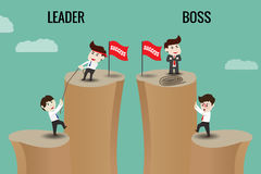 Leader or Boss, template Royalty Free Stock Photography