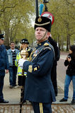 Leader of the Buckingham Band. Picture of the leader of the Buckingham band Royal Air Force about to march to attend the changing of the guards Royalty Free Stock Image